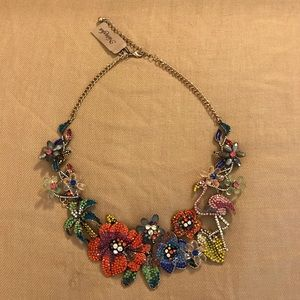 Natasha Crystal Tropical Statement Necklace WOW!